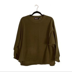 Patagonia Olive Green Fleece Dolman Sweater EUC
